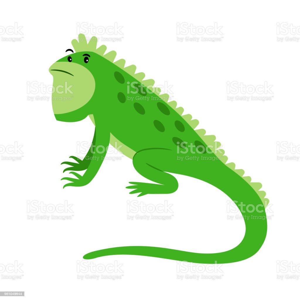Ilustración De Icono De Dibujos Animados De Reptiles Exóticos De
