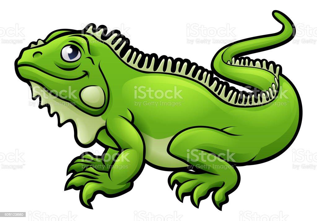 Ilustración De Personaje De Dibujos Animados De Lagarto Iguana Y Más