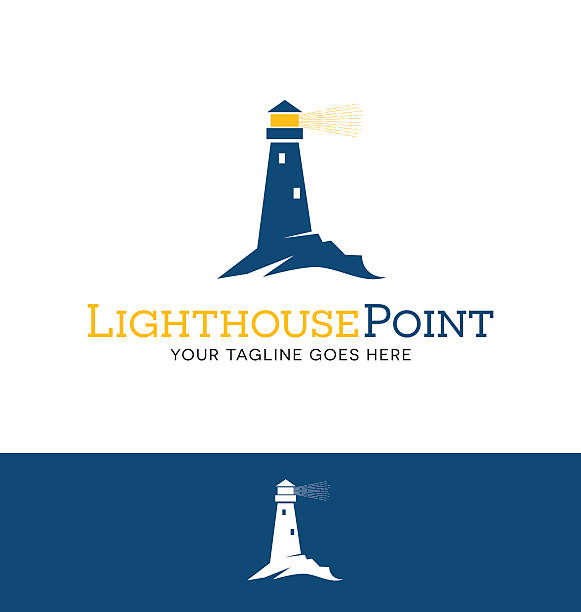illustrations, cliparts, dessins animés et icônes de iighthouse with beacon icon for creative use - phare