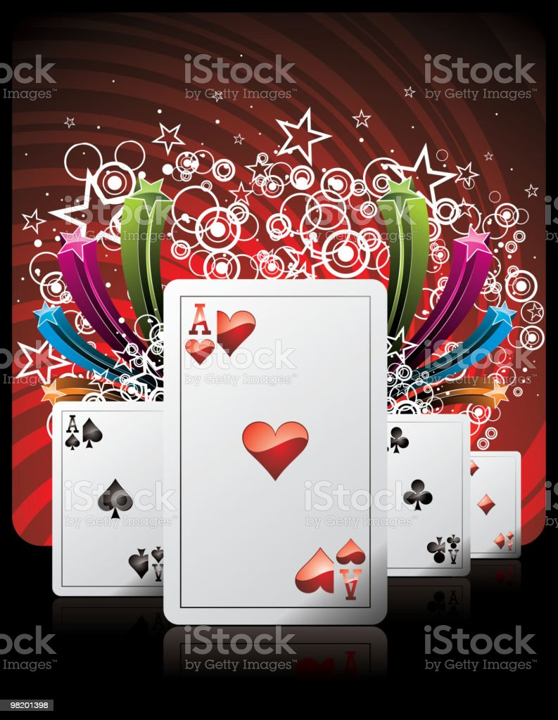 iIlustration on a casino theme with playing cards. royalty-free iilustration on a casino theme with playing cards stock vector art & more images of ace