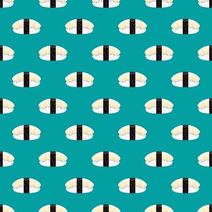Ika Squid Sushi Pattern