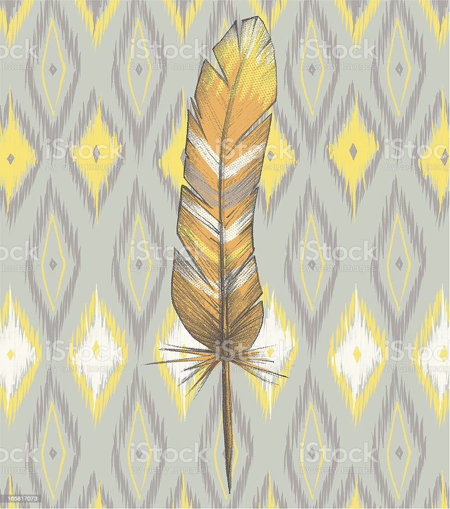 Ikat and Painted Feather royalty-free ikat and painted feather stock vector art & more images of african culture