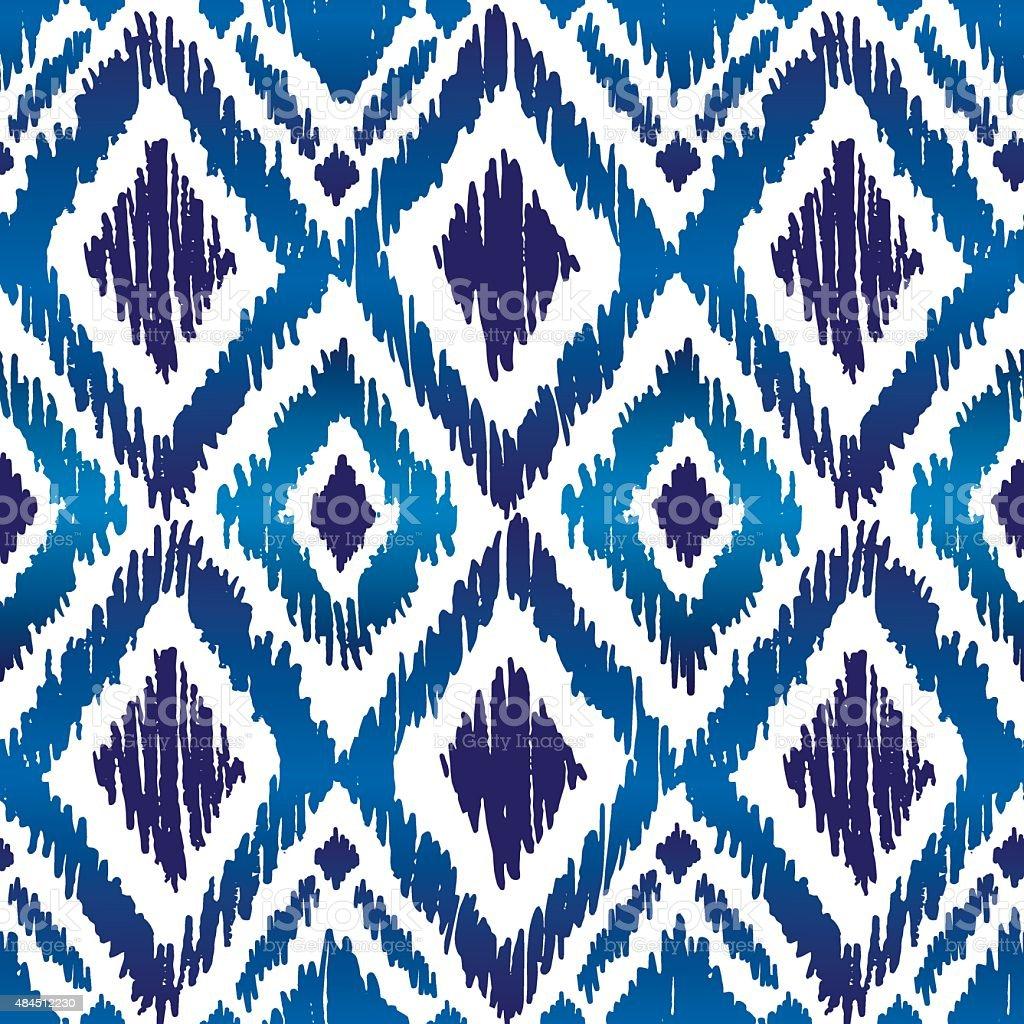 Ikat Ogee Pattern vector art illustration