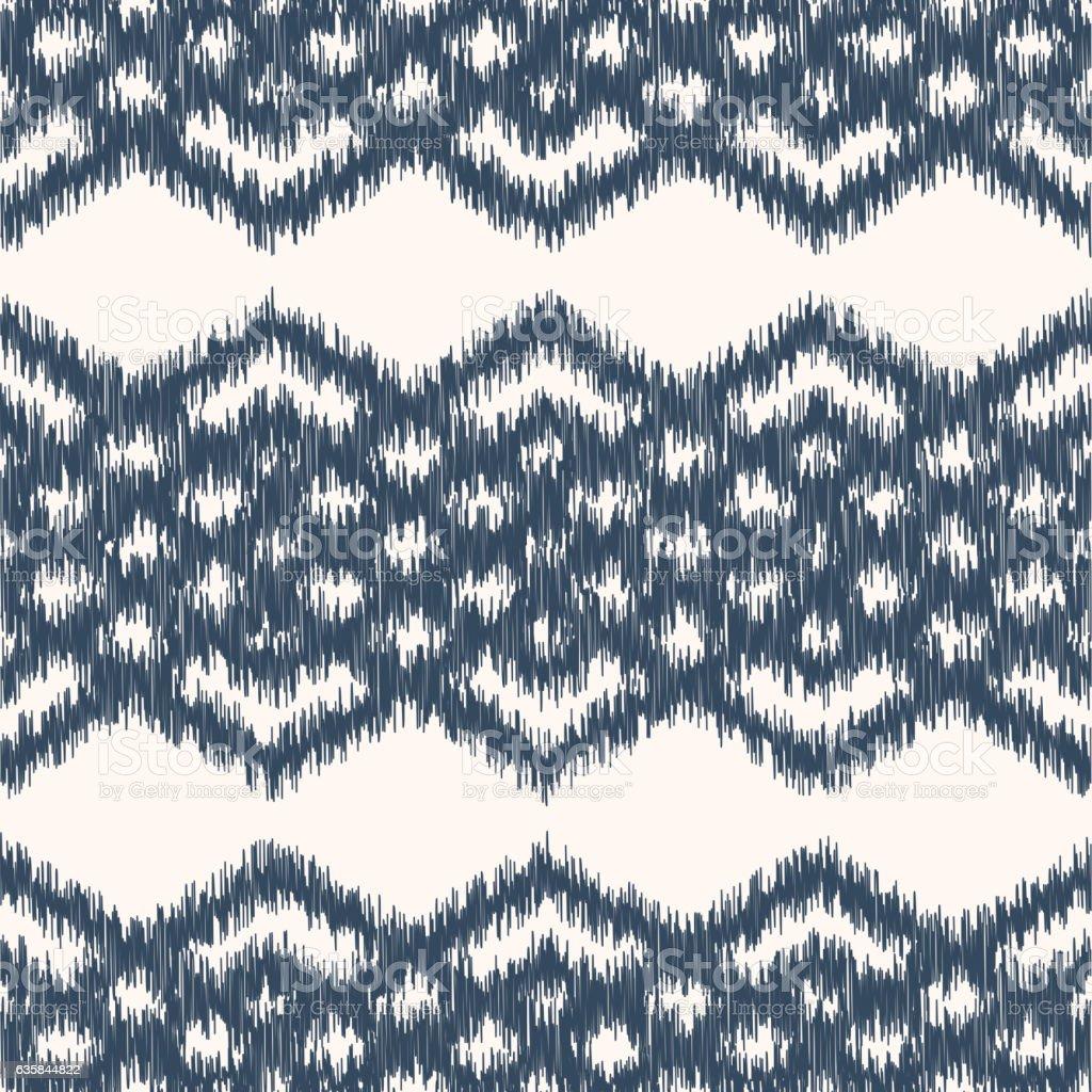 Ikat Pattern vector art illustration