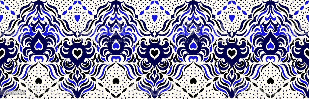 Ikat seamless pattern. Vector tie dye shibori print with stripes and chevron. Ink textured japanese background. Ethnic fabric vector. ikat seamless pattern vector tie dye shibori print with stripes and chevron ink textured japanese background ethnic fabric vector - stockowe grafiki wektorowe i więcej obrazów abstrakcja royalty-free