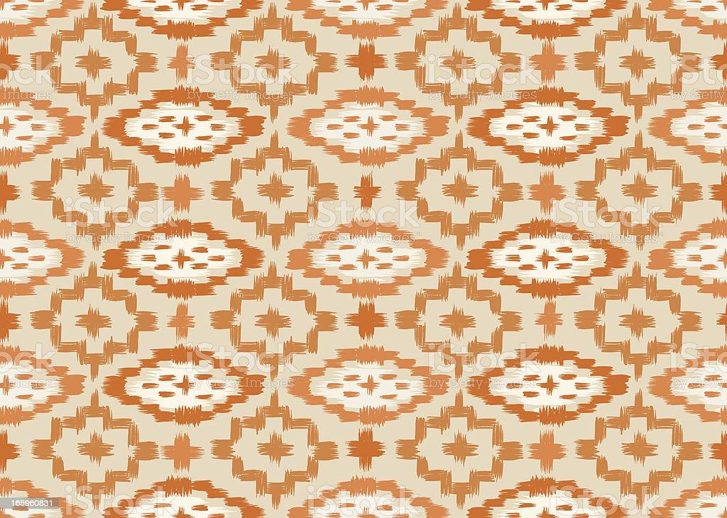ikat seamless Pumpkin Orange pattern vector art illustration