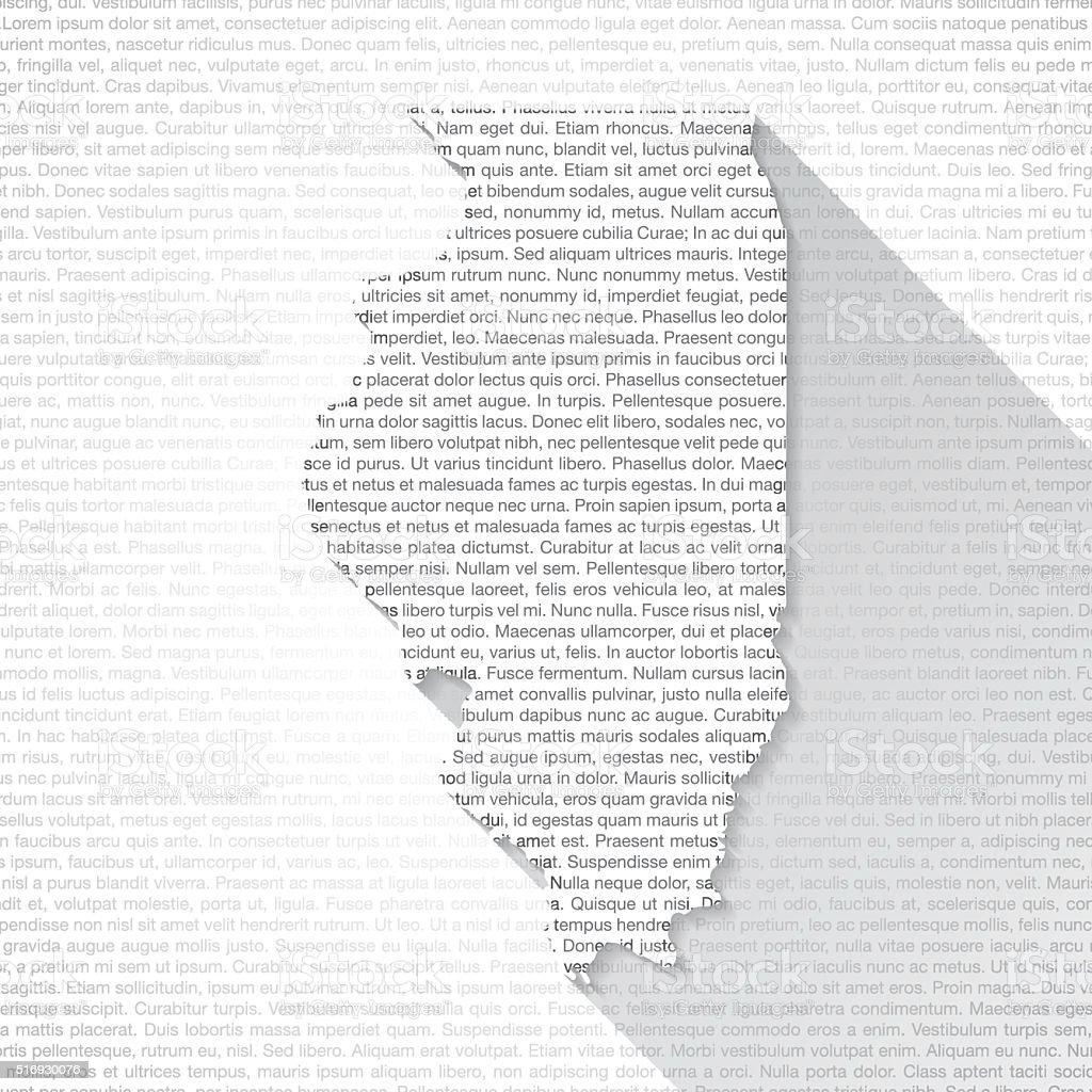 Illinois Map on Text Background - Long Shadow vector art illustration