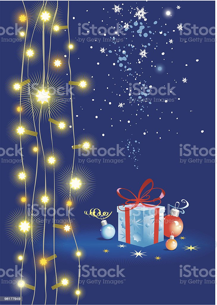 Illuminated and a gift royalty-free illuminated and a gift stock vector art & more images of abstract