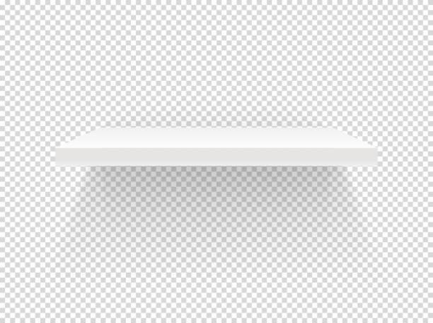 ilustrações de stock, clip art, desenhos animados e ícones de illuminated book shelf vector clipart. vector objects isolated on transparent background - prateleira compras