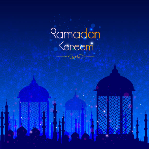 Illuminated lamp for Ramadan Kareem Greetings for Ramadan background vector art illustration
