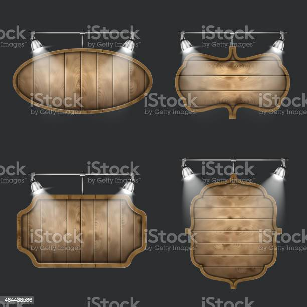 Illuminated set of wooden signboards vector id464438586?b=1&k=6&m=464438586&s=612x612&h=okqvaouv6eaxpmxg2cbdizpioxuz49ijqpa77tbupn4=