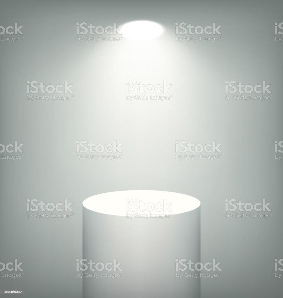 Illuminated Stand Template on Grayscale vector art illustration