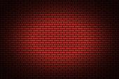 Illuminated texture of the brickwork design. Vector background illustration.