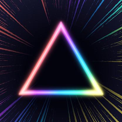 Illuminated Triangle Shape Abstract Background