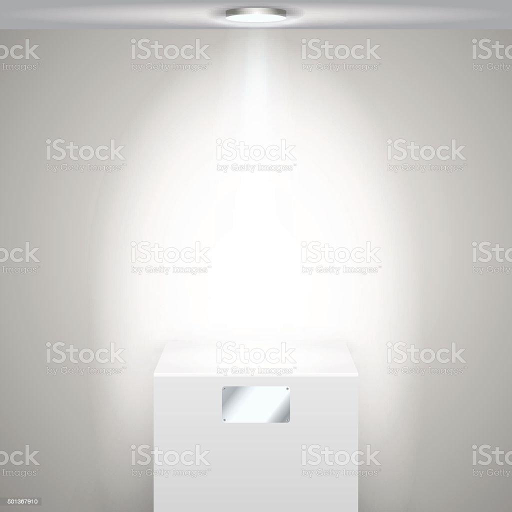 Освещенный whie воротник векторная иллюстрация