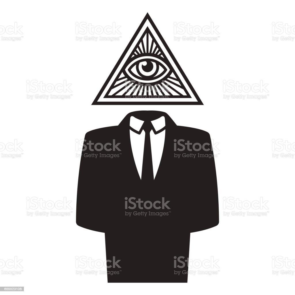 Illuminati conspiracy illustration vector art illustration