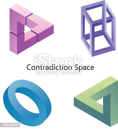 istock Illusion (Contradiction space) 463428031