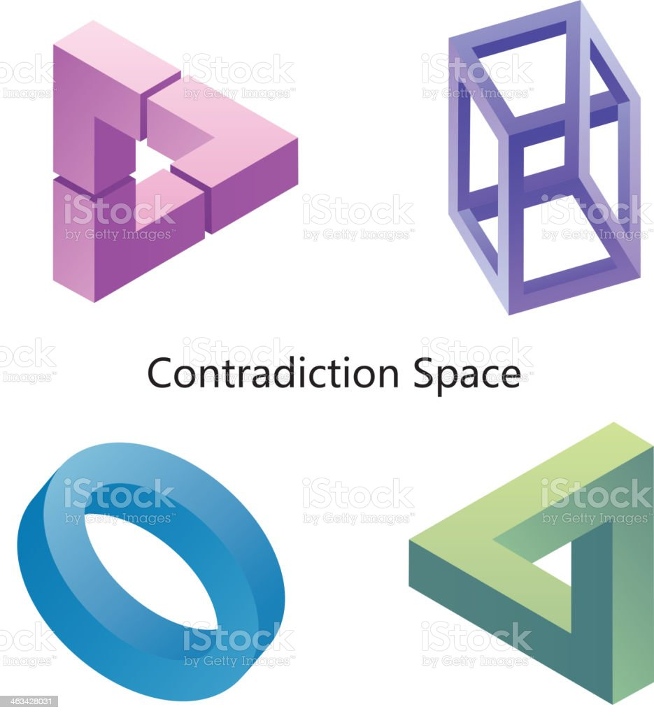 Illusion (Contradiction space) vector art illustration