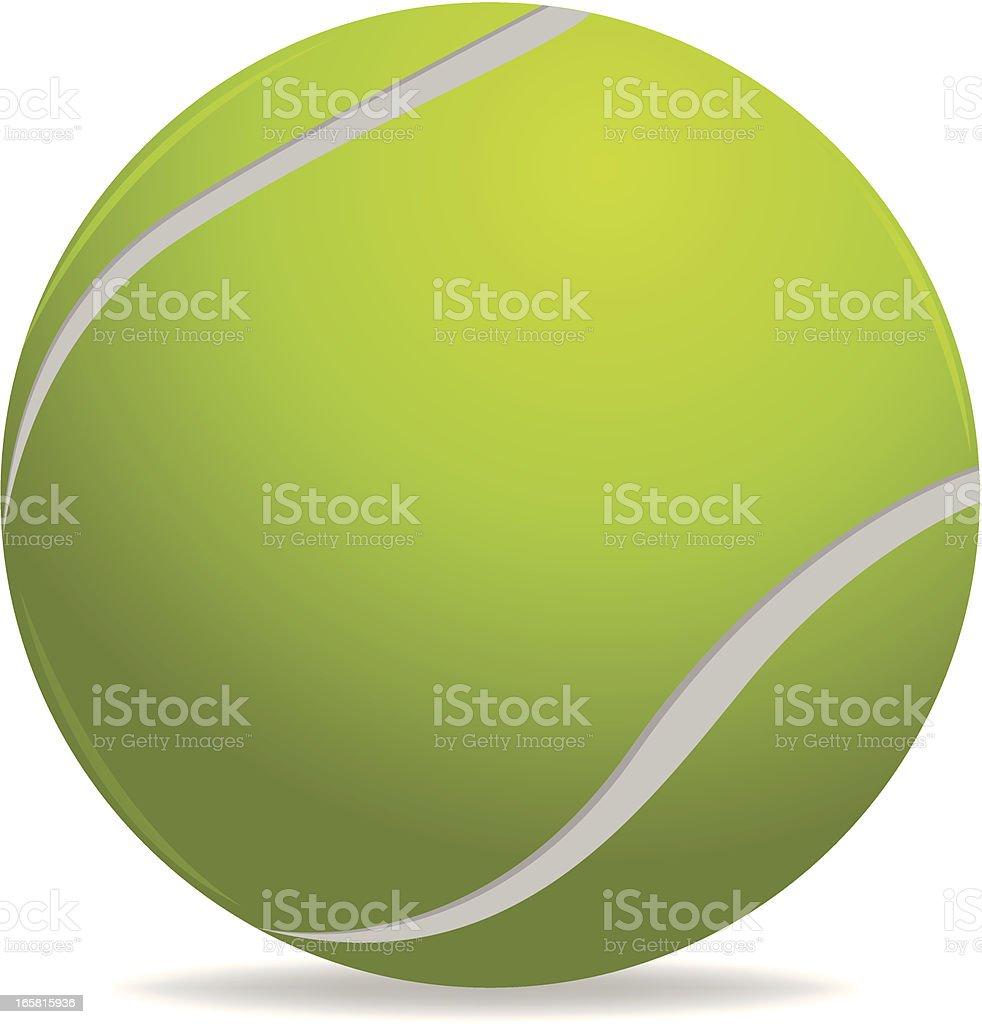 Illustrated cartoon tennis ball vector art illustration