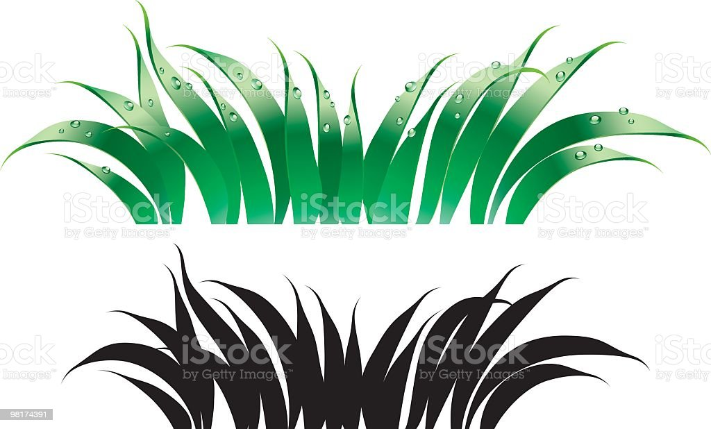 Illustrated green grass and silhouette grass royalty-free illustrated green grass and silhouette grass stock vector art & more images of abstract