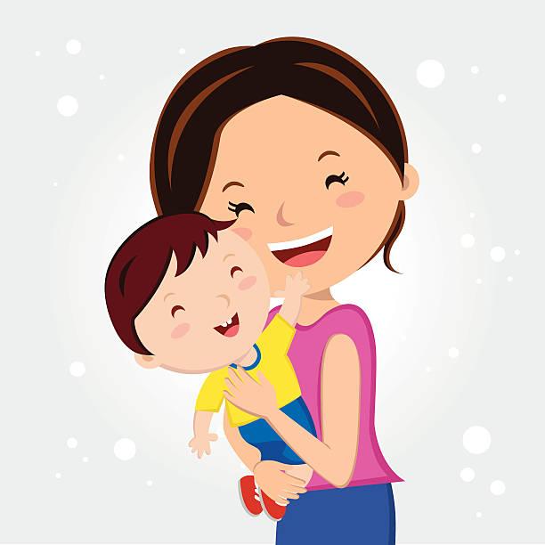 Mother の愛 ベクターアートイラスト