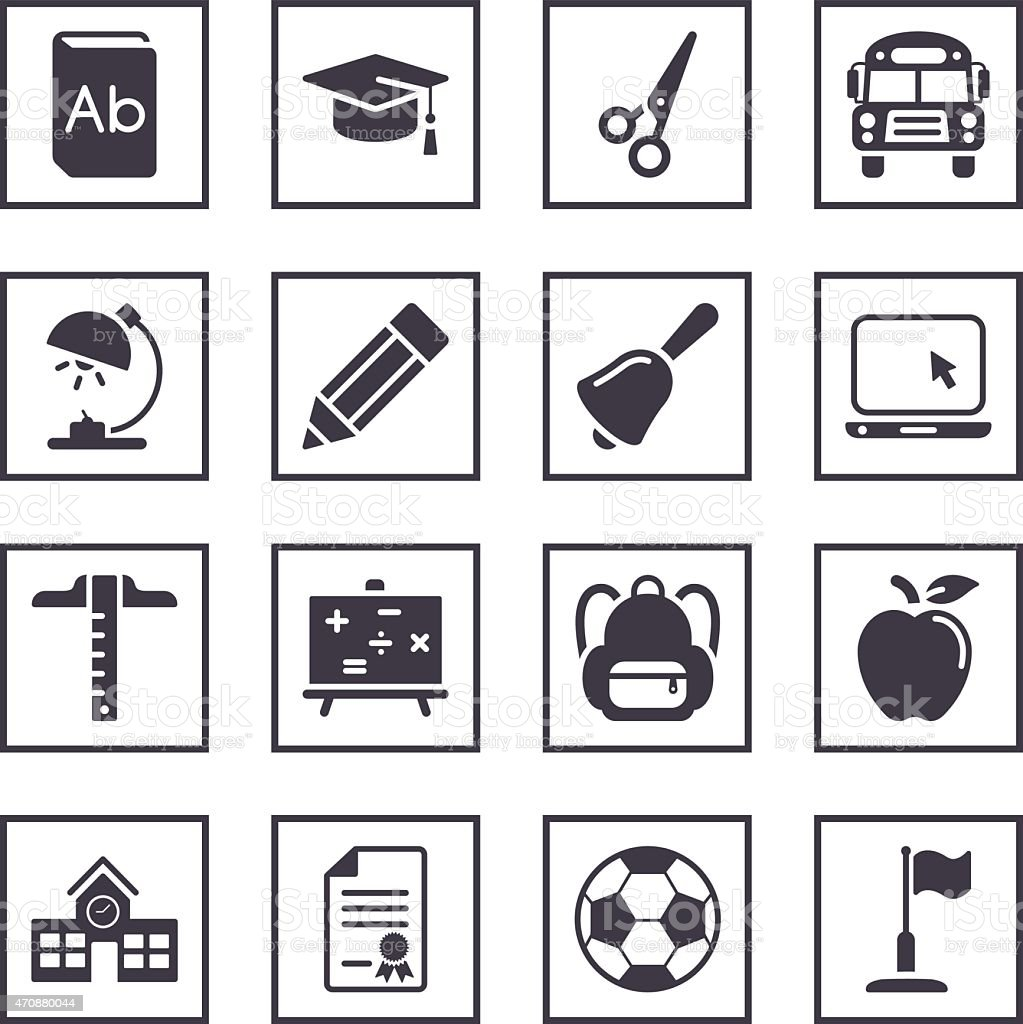 Illustrated icons depicting school symbols stock vector art more illustrated icons depicting school symbols royalty free illustrated icons depicting school symbols stock vector art buycottarizona Image collections