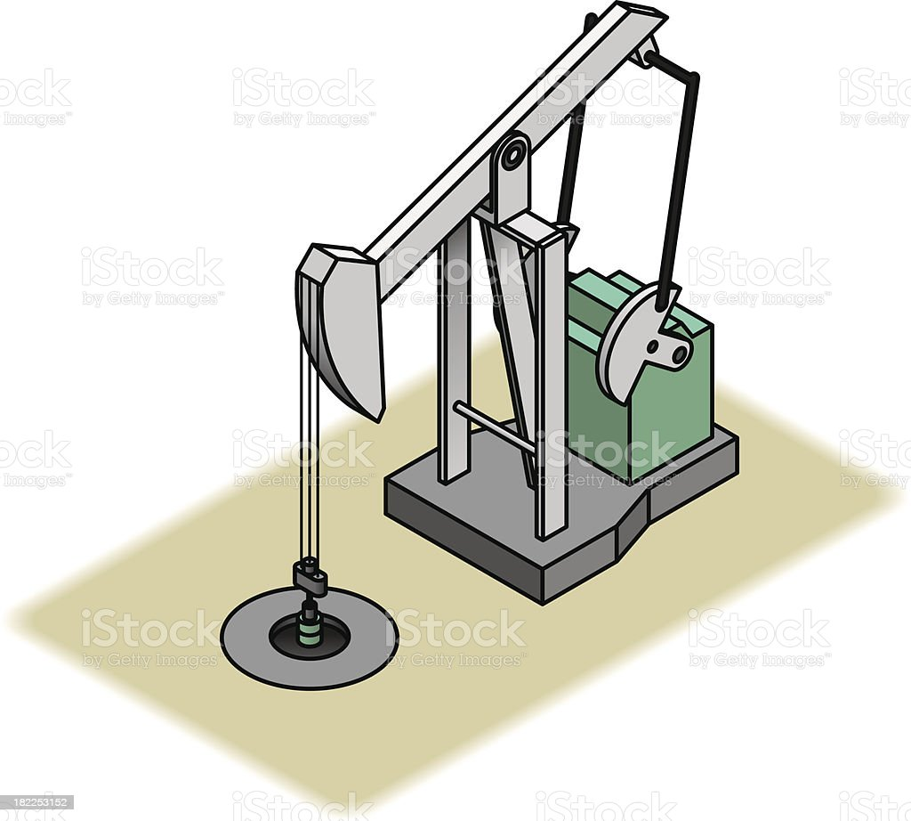 Illustrated image of a pumpjack royalty-free stock vector art