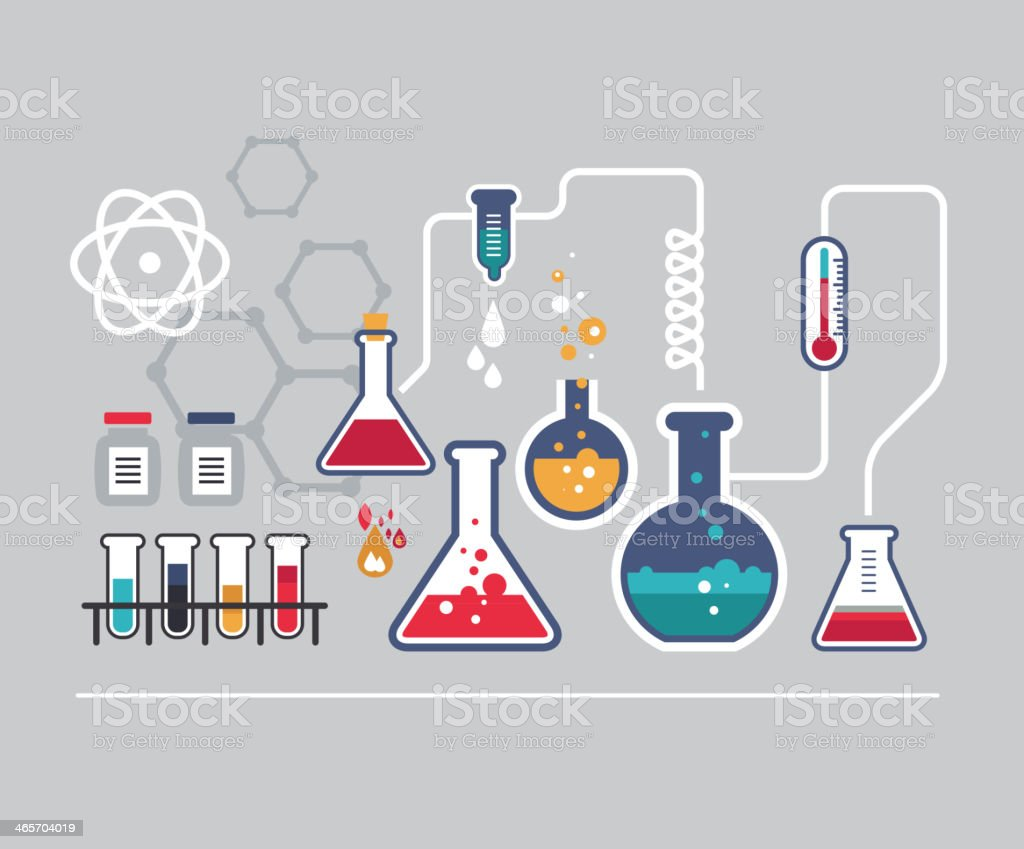 Illustrated infographic of a chemistry lab stock vector art more illustrated infographic of a chemistry lab royalty free illustrated infographic of a chemistry lab stock ccuart Gallery