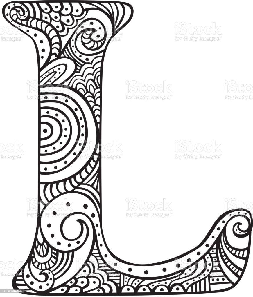 Ilustración De Dibujo Letra L Y Más Banco De Imágenes De Arte