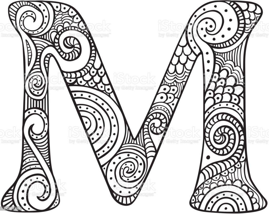 Illustrated Letter M Stock Illustration Download Image Now