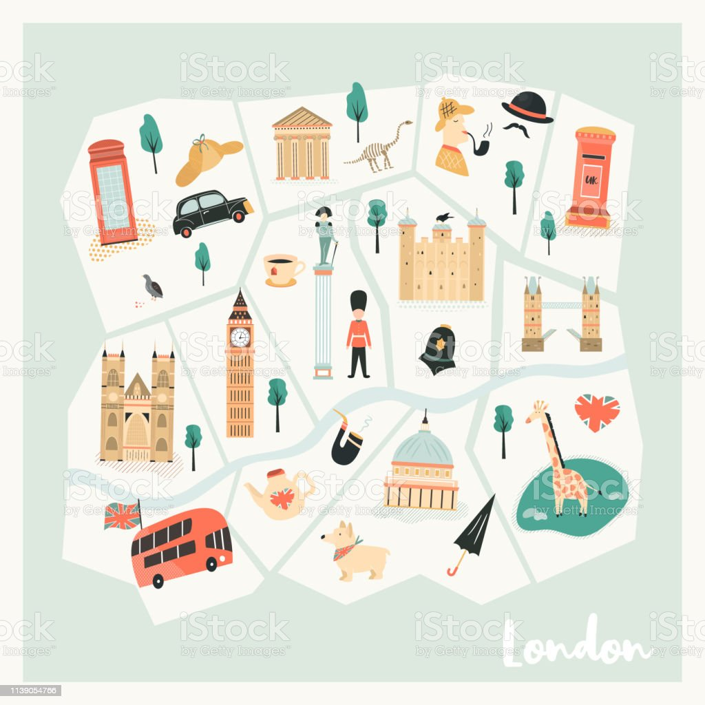 Illustrated Map Of London on historical map of london, art map of london, painted map of london, business map of london, black map of london, color map of london, interactive map of london, simple map of london, watercolor of london, graphic map of london, travel map of london, childrens map of london,