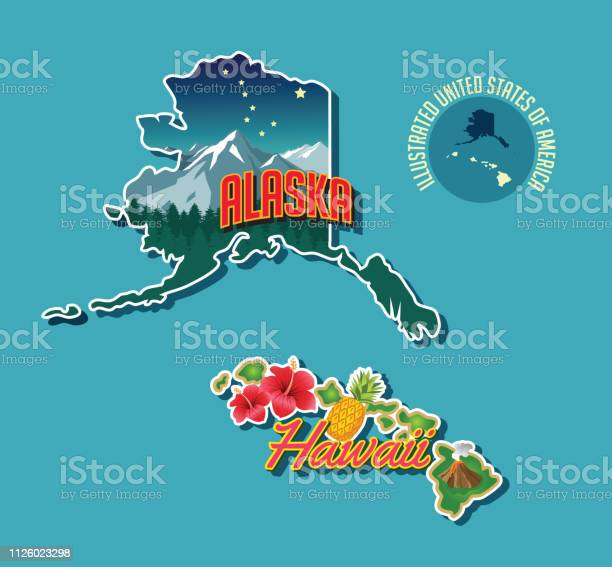 Alaska Hawaii Free Vector Art - (10 Free Downloads)