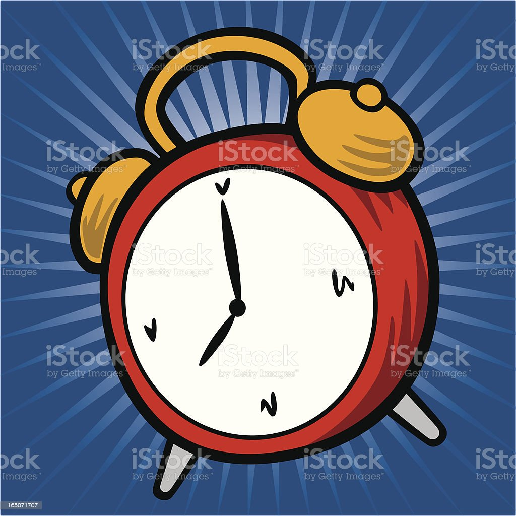 Illustrated red alarm clock on blue background royalty-free illustrated red alarm clock on blue background stock vector art & more images of alarm clock