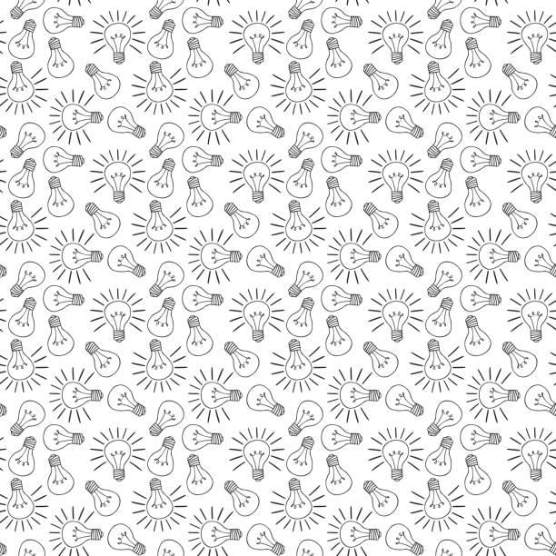 Ilustrado padrão sem emenda - ilustração de arte em vetor