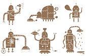 Different six robot illusrations...