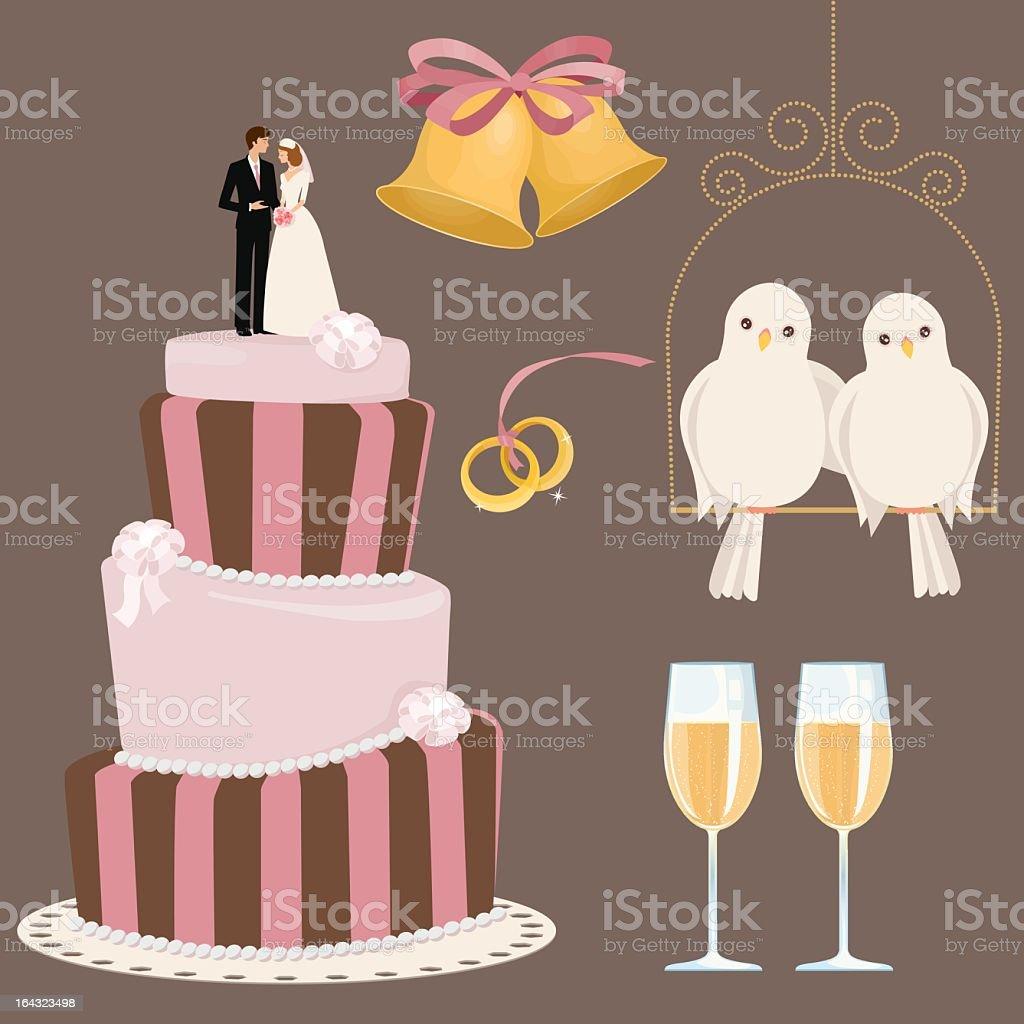 Preparação para casamento - ilustração de arte em vetor
