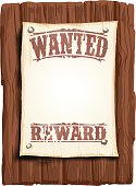 illustrated wanted poster