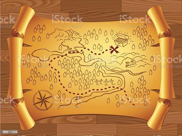 Treasure Map Stock Vektor Art und mehr Bilder von Abenteuer