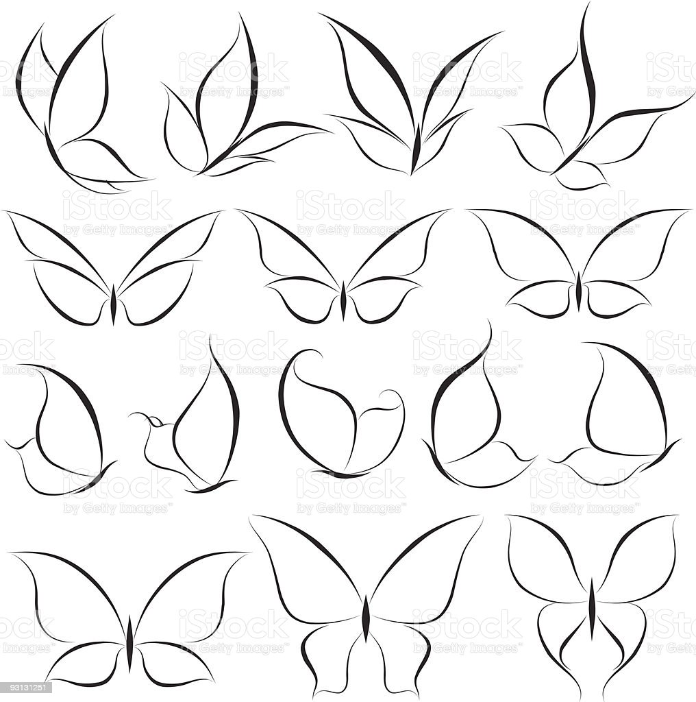 Illustrating How To Draw A Butterfly Stock Illustration ...