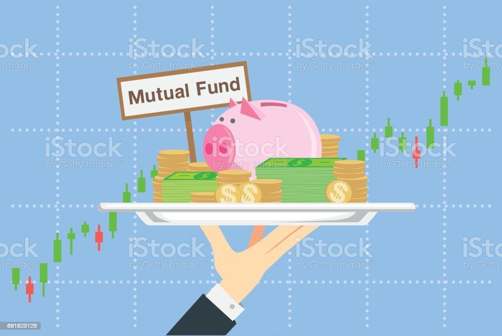 Illustration about saving in mutual funds in catering concept. vector art illustration