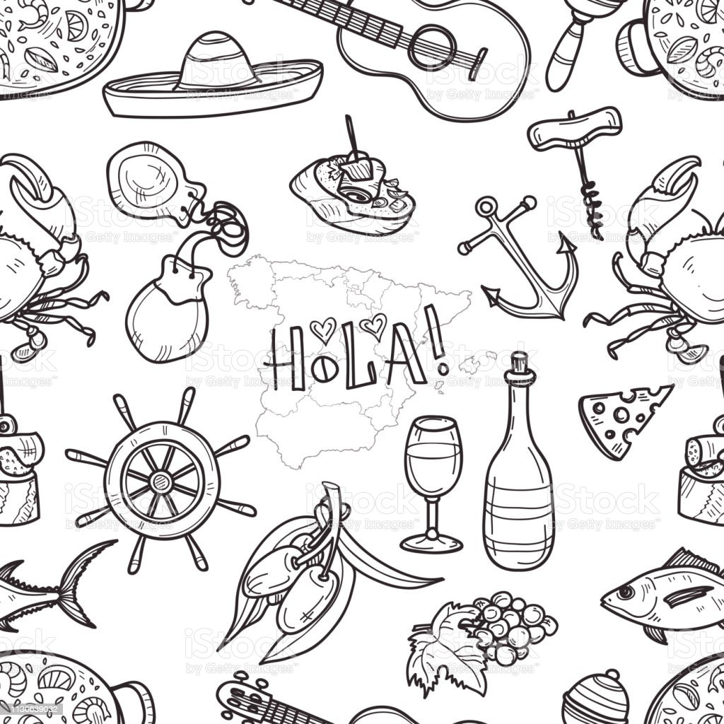 Dessin Paella dessin paella vecteurs et illustrations libres de droits - istock
