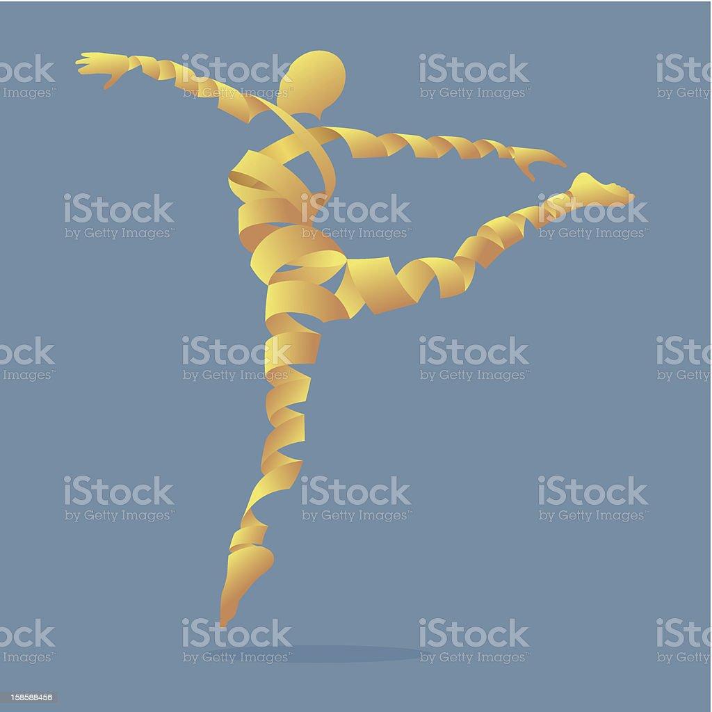 Illustration aerobics dance royalty-free stock vector art