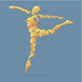 Abstract aerobics dance to slim, illustration by vector design EPS 10.