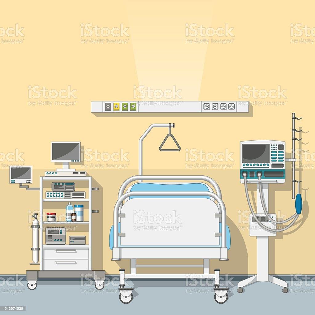 Illustration an intensive care unit vector art illustration