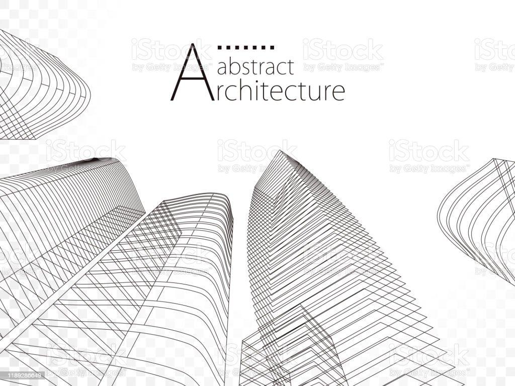 3d Illustration Architecture Modern Urban Building Design Stock ...