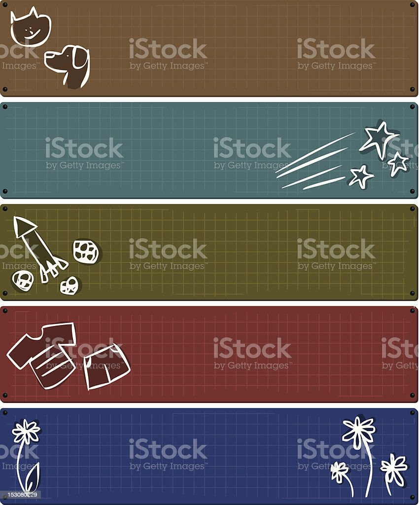 Illustration Back to School Banners royalty-free stock vector art