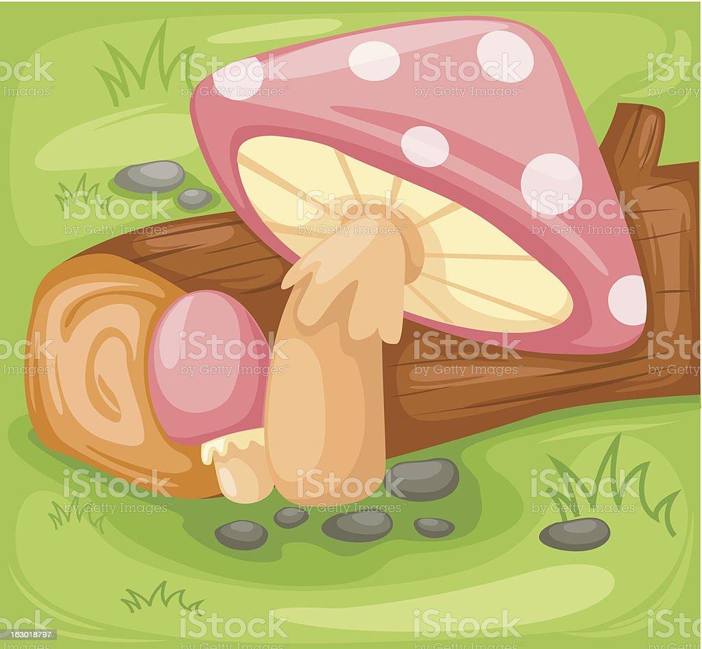 illustration background mushroom royalty-free stock vector art