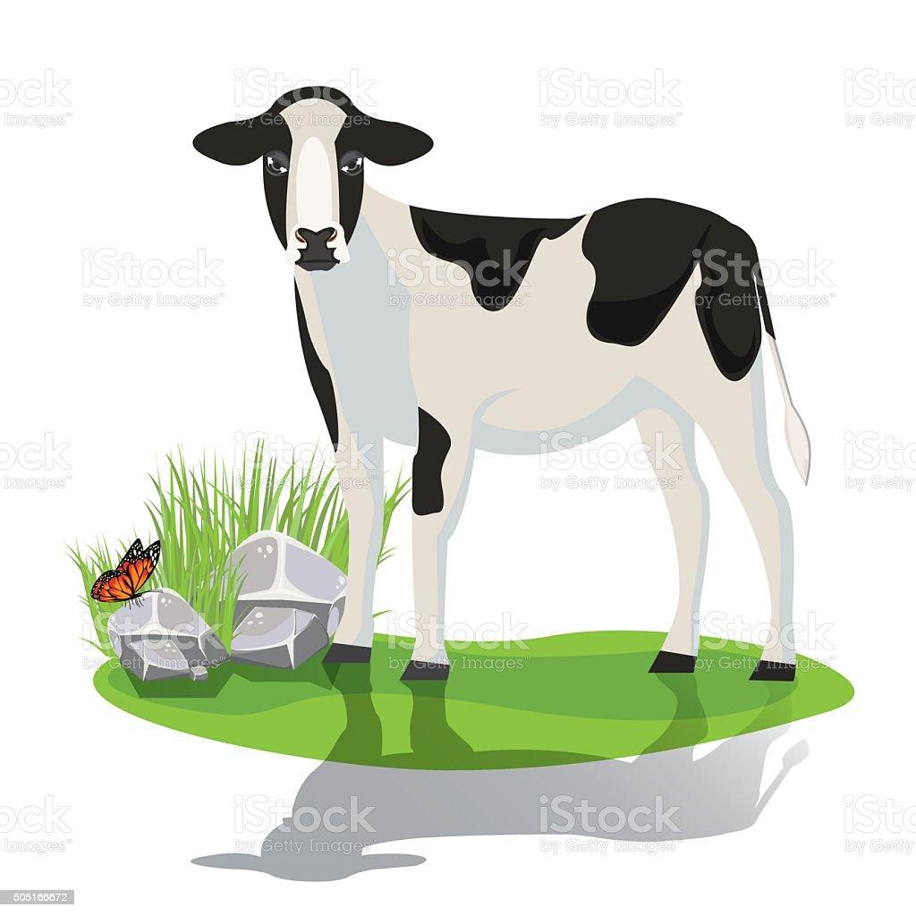 illustration. calf vector art illustration