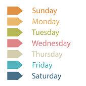 Illustration callendar or day of the week