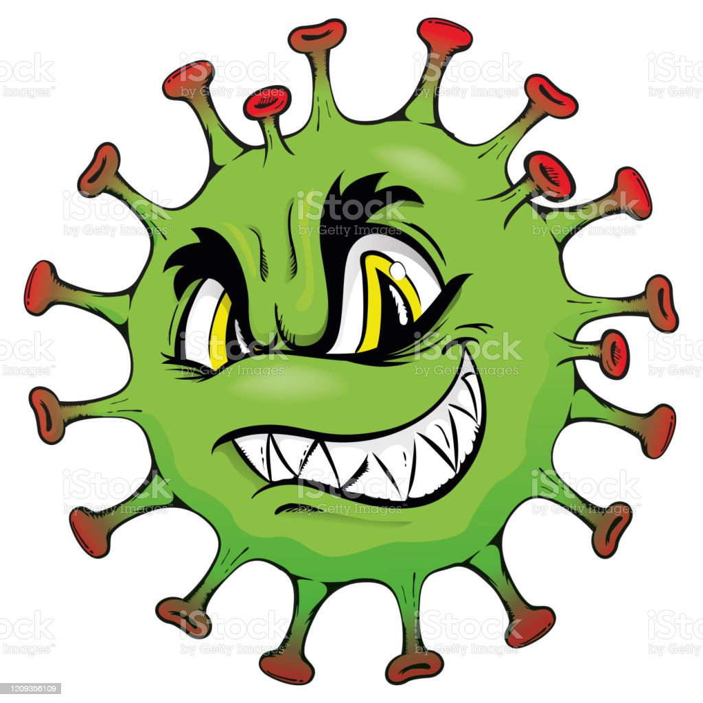 Illustration Cartoon Corona Virus A Microorganism Or Monster Stock  Illustration - Download Image Now - iStock